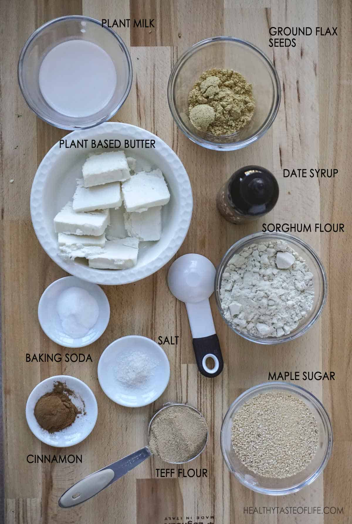Ingredients For Vegan Gluten Free Graham Cracker Recipe