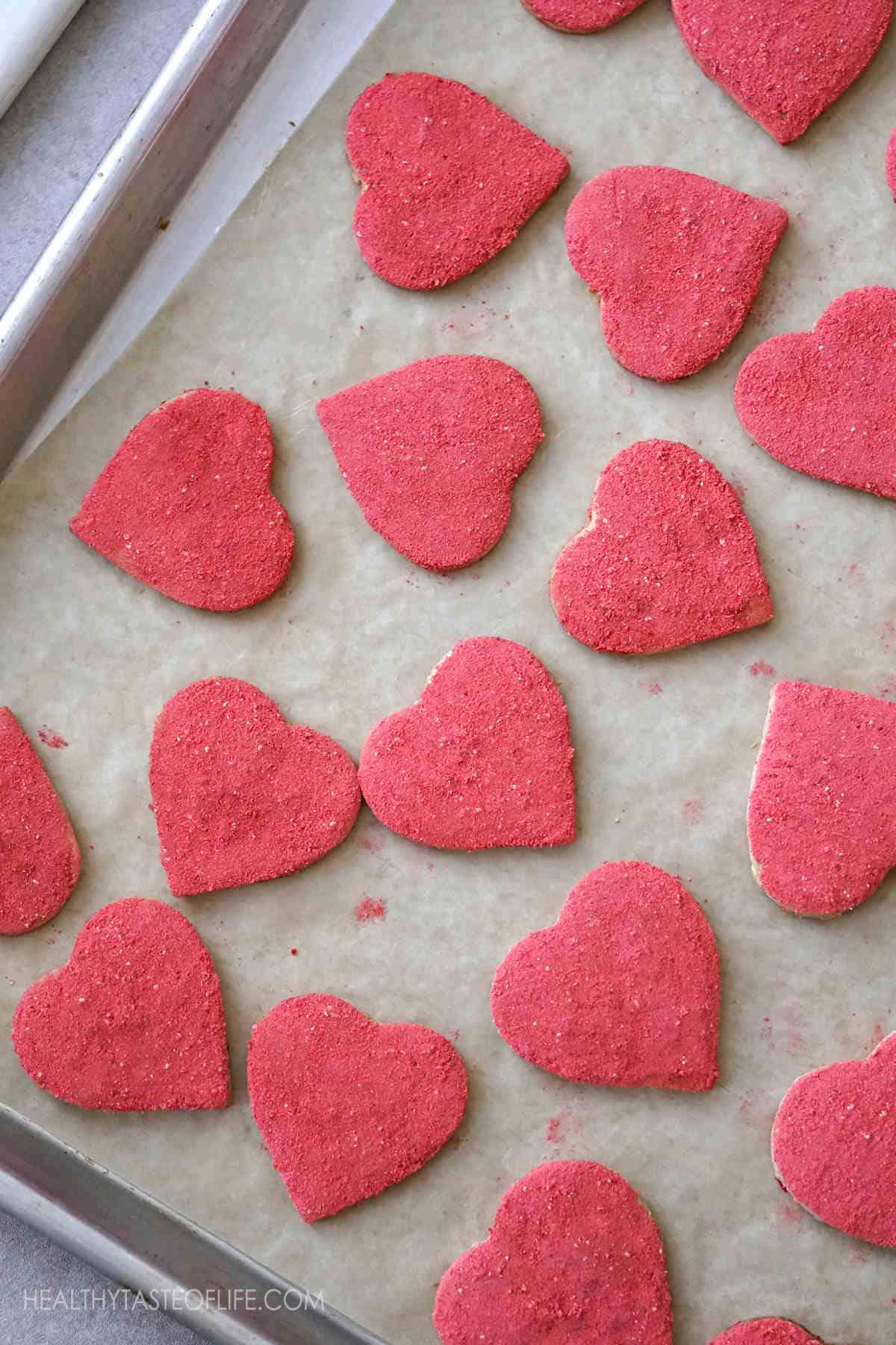 Heart Shaped Cookies - Vegan Gluten Free Valentine Cookies