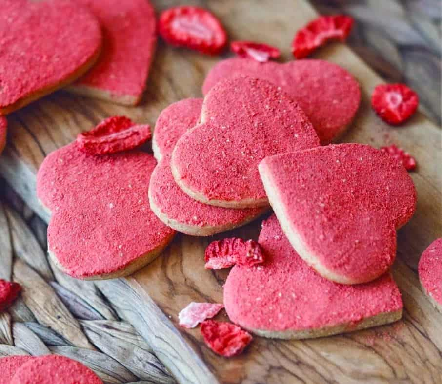Gluten Free Vegan Heart Shaped Cookie - Vegan valentine sugar cookies - Gluten free valentine sugar cookies - vegan gluten free sugar cookies