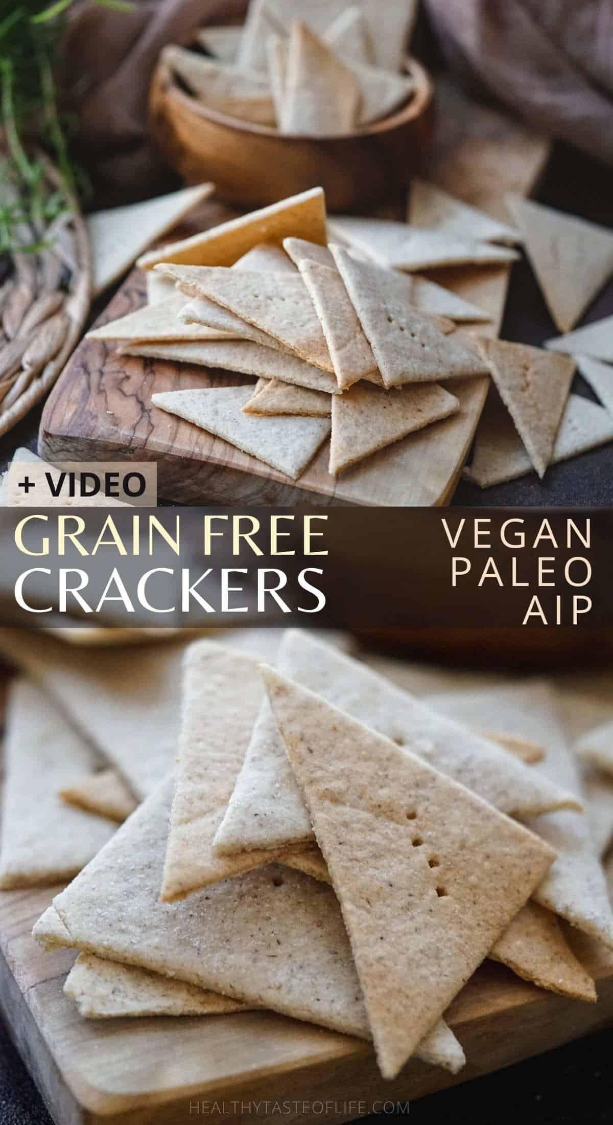 Cassava Crackers Paleo Grain Free Vegan AIP Crackers
