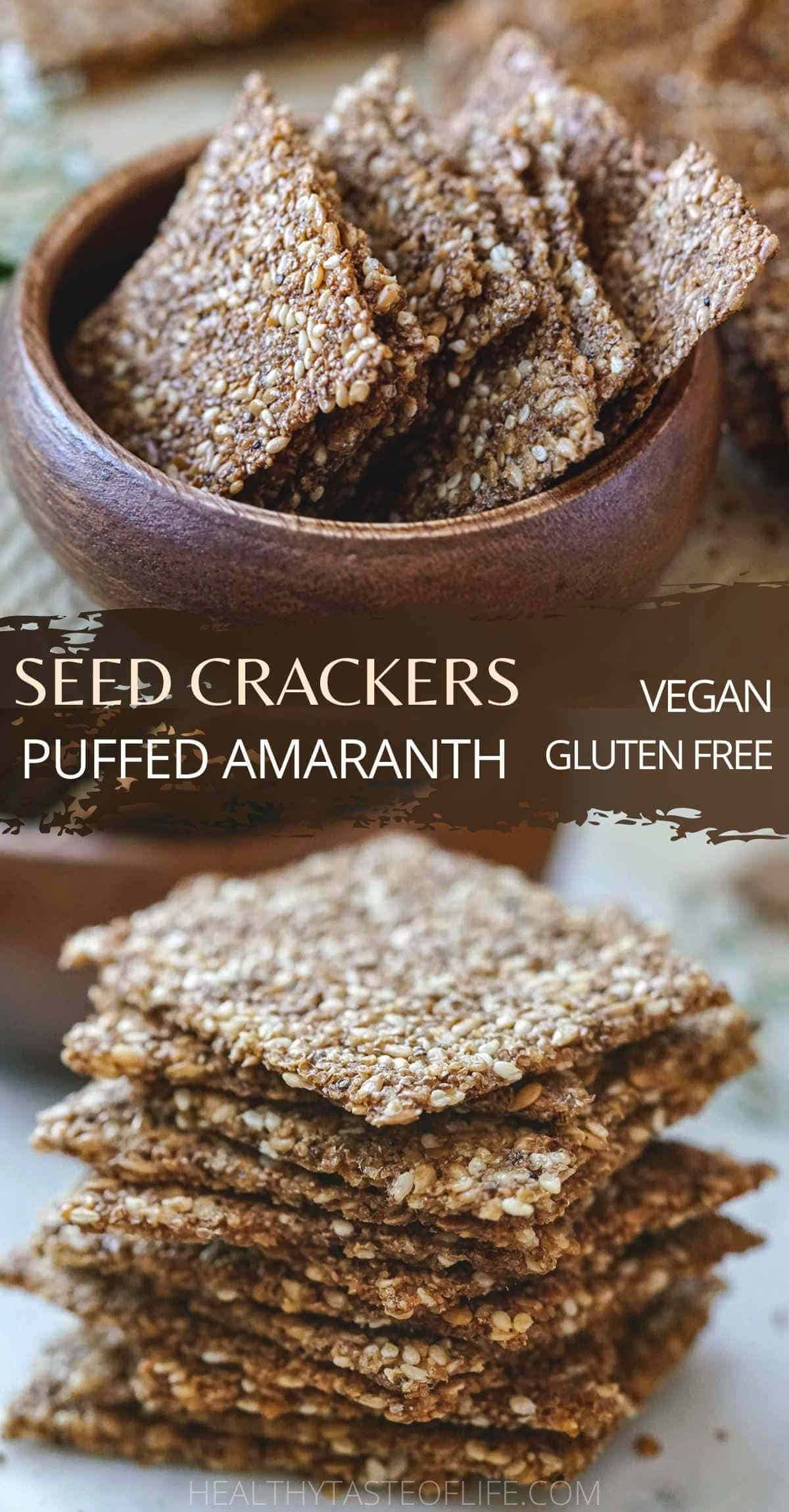 Puffed amaranth crackers snack pinterest