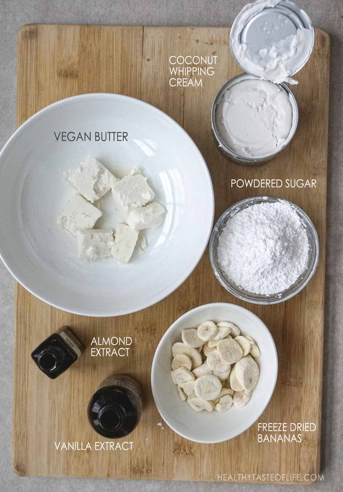 Dairy Free Frosting Ingredients For Gluten Free Banana Cake