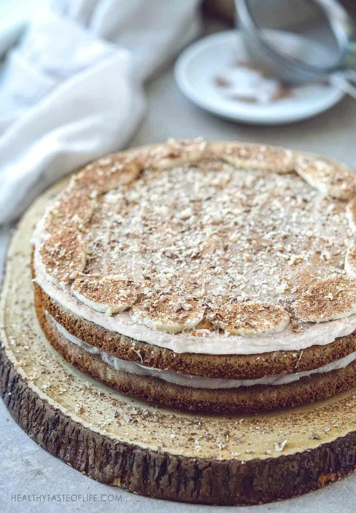 Gluten free banana cake recipe - gluten and dairy free banana care with healthy ingredients #glutenfreebananacake