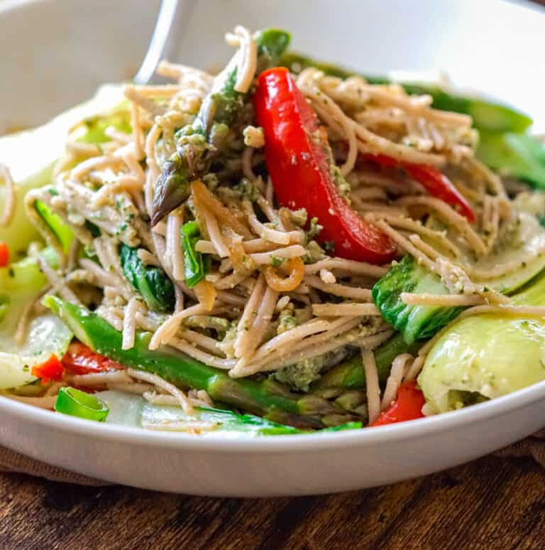 Gluten free buckwheat soba noodles stir fry recipe.