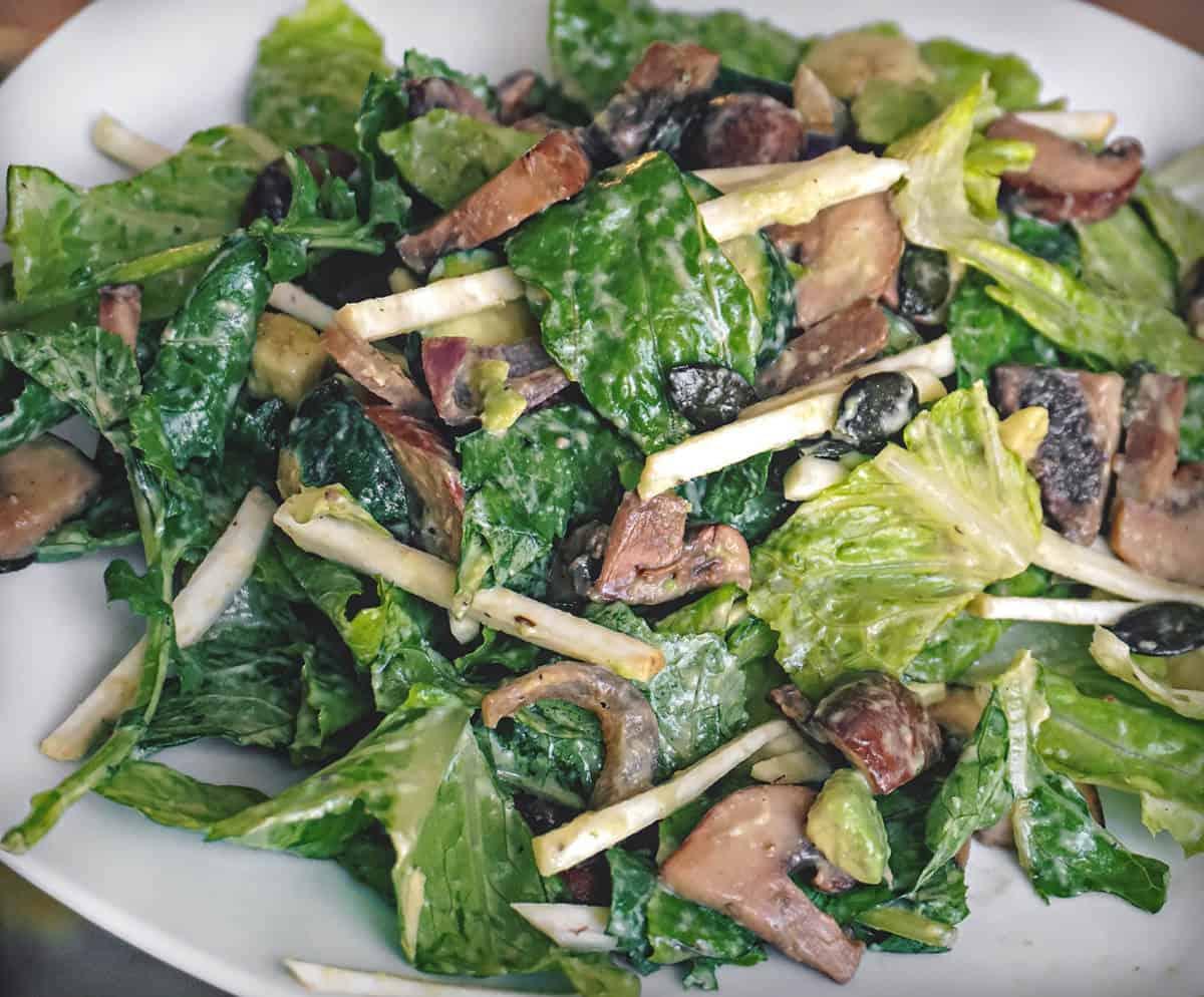 Zucchini mushroom salad recipe.