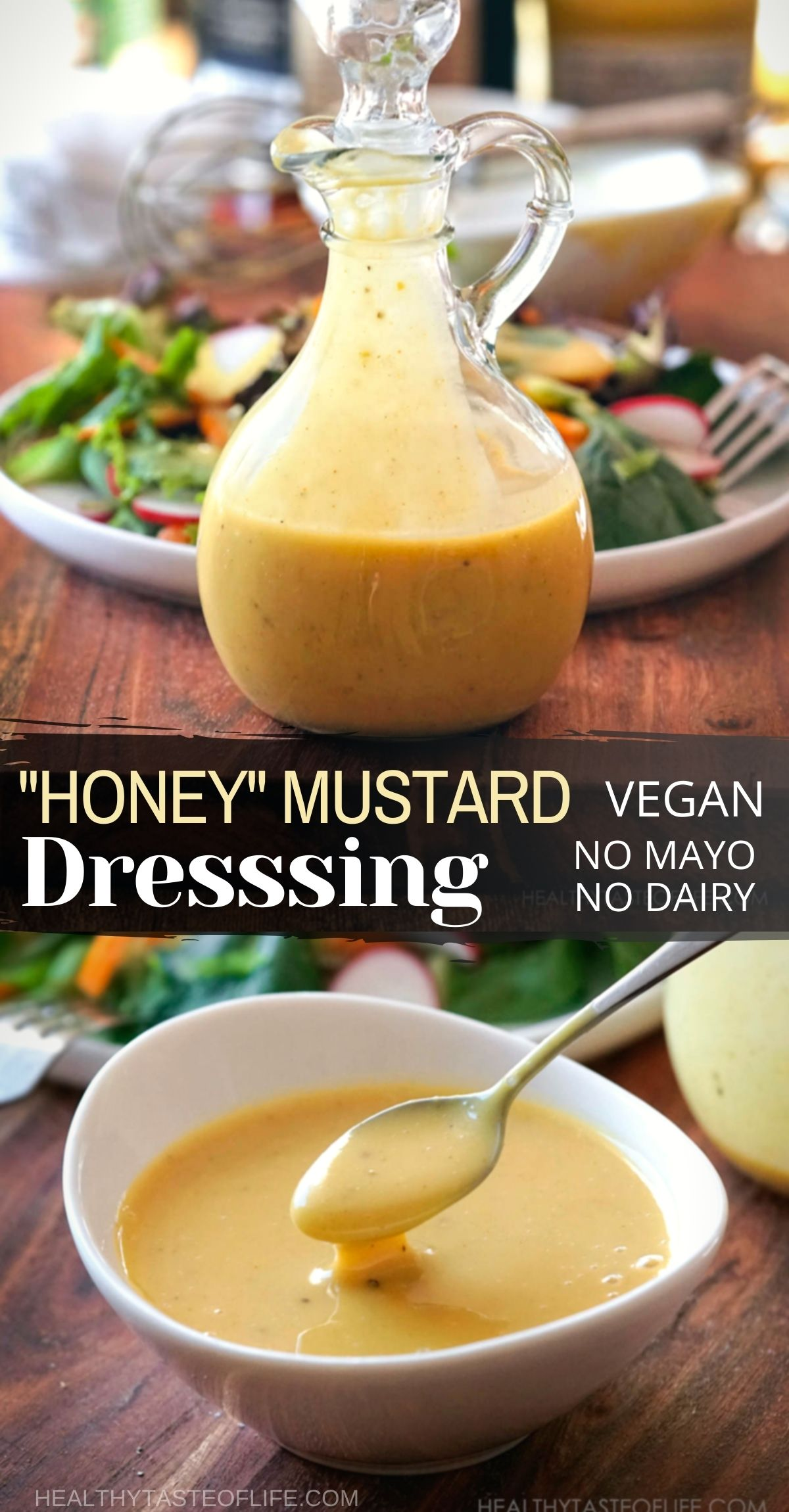 Vegan Honey Mustard Recipe No Honey No Mayo Pin For Pinterest.