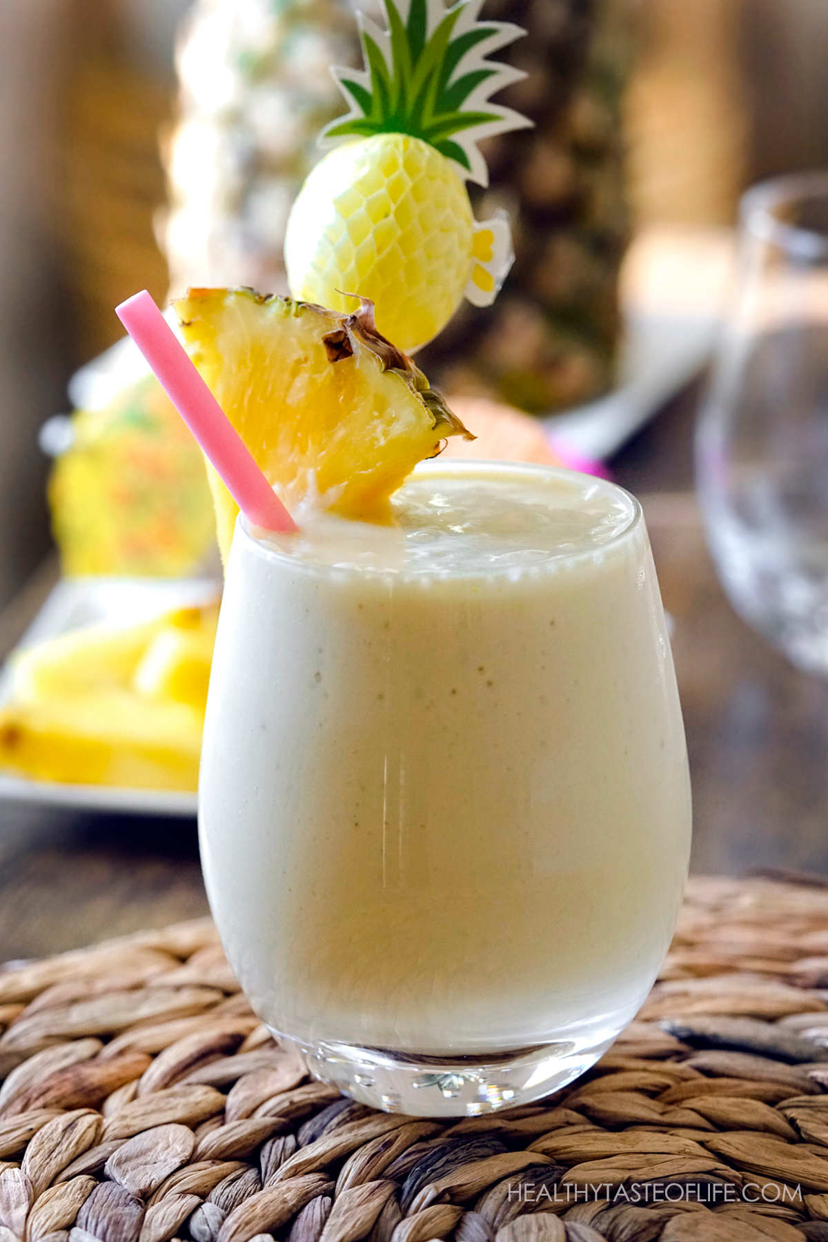 Healthy Dairy Free Pineapple Milk Shake.