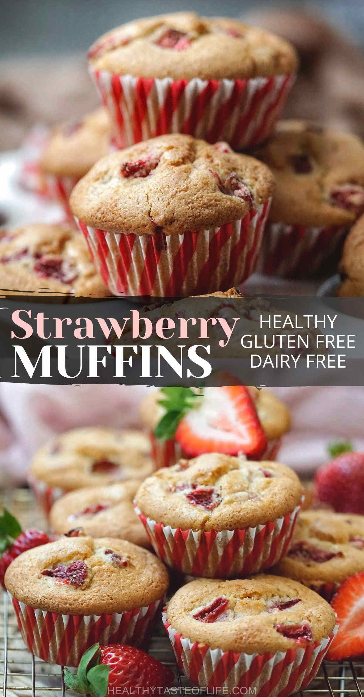 Strawberry Muffins Recipe Healthy Easy Gluten Free And Dairy Free.