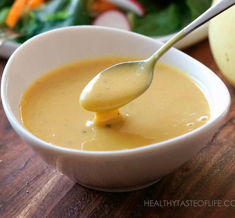 Vegan Honey Mustard Sauce Dressing Recipe.