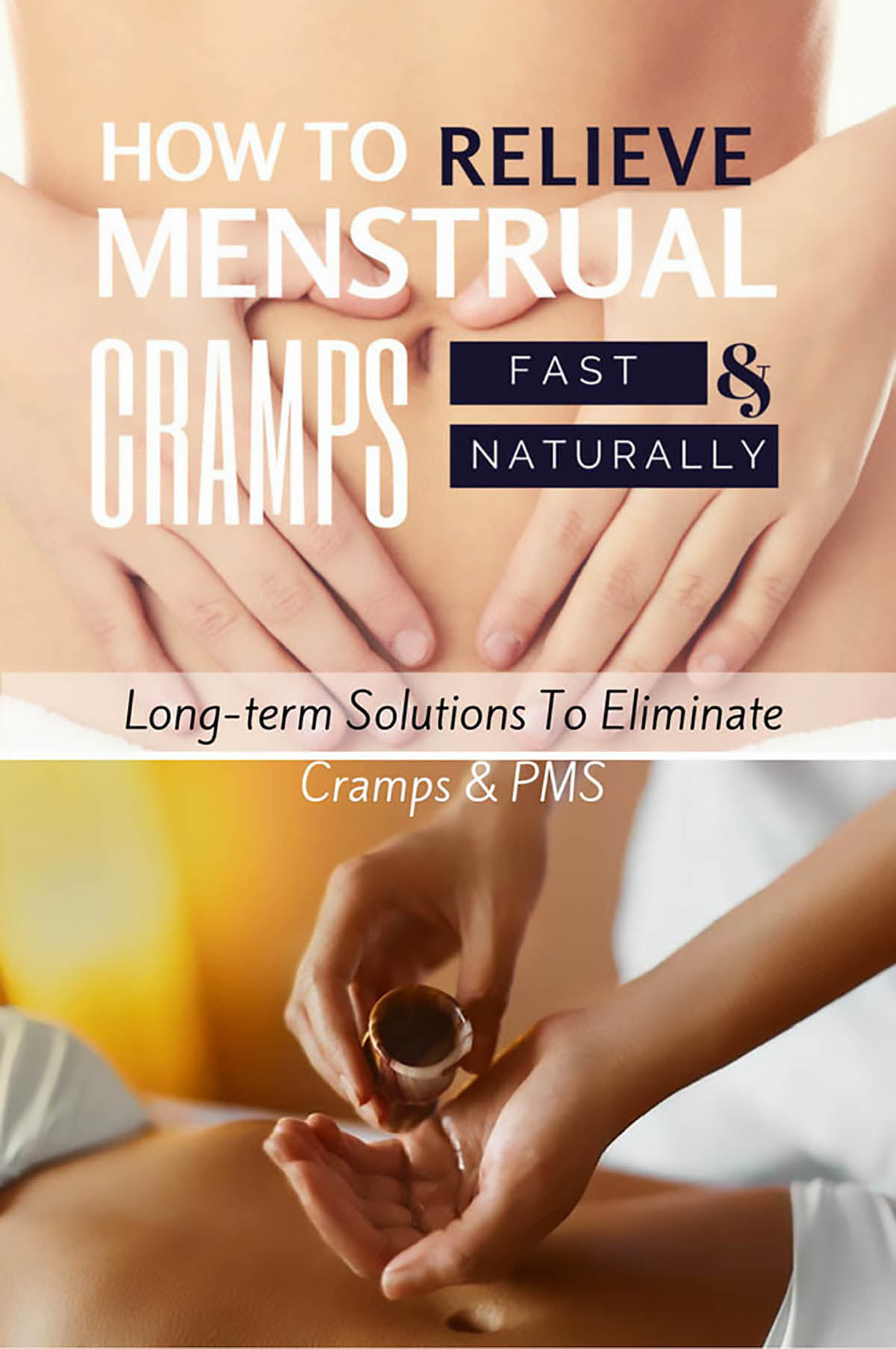 Relieving period cramps, natural home remedies for period pain, how to deal with unbearable period pain.